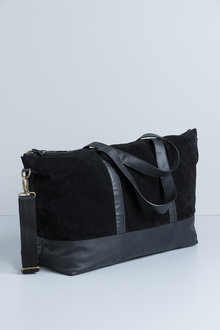 Leather and Suede Weekend Bag