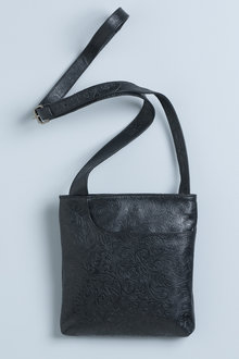 Textured Alice Leather Crossbody Bag