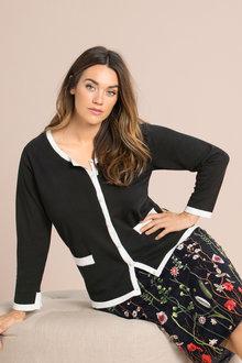 Plus Size - Sara Pearl Button Cardigan
