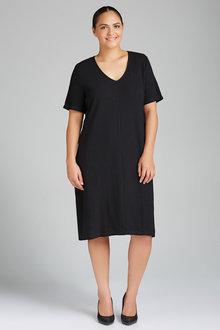 Plus Size - Sara Knit Bow Tie Dress