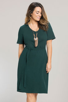 Plus Size - Sara Knit Bow Tie Dress
