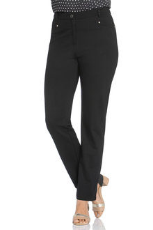 Plus Size - Sara So Slimming Ponte Ankle Pant