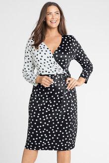Plus Size - Sara Wrap Knit Dress