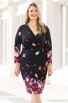 Plus Size - Sara Wrap Knit Dress