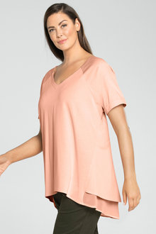 Plus Size - Sara Split Back Tunic