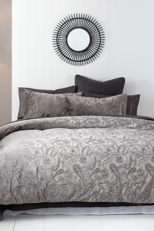 Amber Embossed Velvet Duvet Cover Set