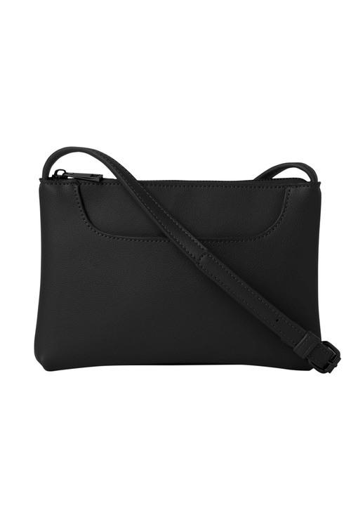 Pocket Front Leather Crossbody Bag
