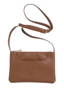 Pocket Front Leather Crossbody Bag