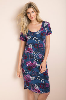 Short Sleeve Printed Nightie