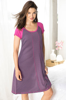 Short Sleeve Panel Nightie