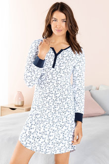 Long Sleeve Henley Nightie