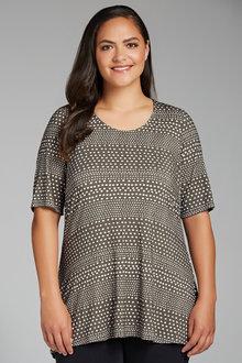Plus Size - Sara Spot On Tunic