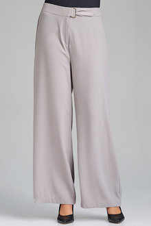 Grace Hill Plain Dyed Soft Pant With Waist Detail