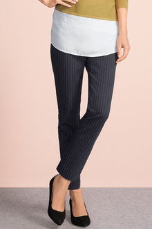 Grace Hill Printed Pinstripe Slim Pant