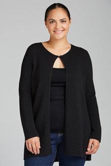 Plus Size - Sara Ribbed Knit Cardigan