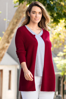 Plus Size - Sara Ribbed Knit Cardigan