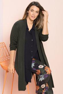 Plus Size - Sara Longline Cardigan