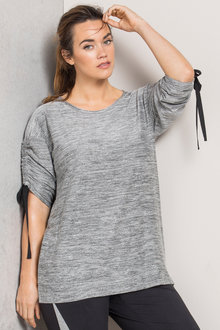 Plus Size - Sara Bow Detail Tee