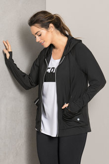 Plus Size - Sara Off Duty Hooded Sweat