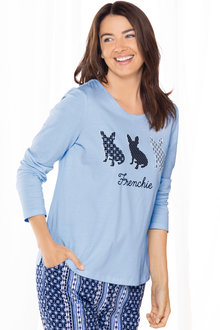 Mia Lucce Long Sleeve Printed PJ Top