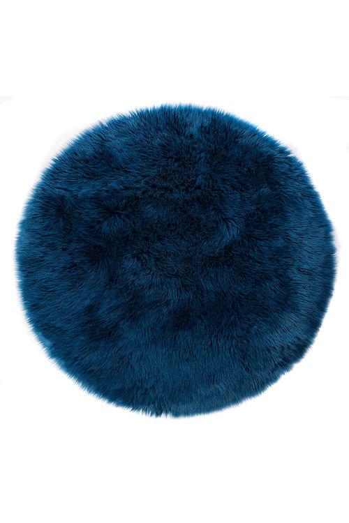 Cara Faux Fur Round Rug