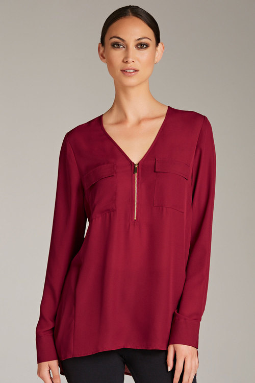 Emerge Zip Front Shirt