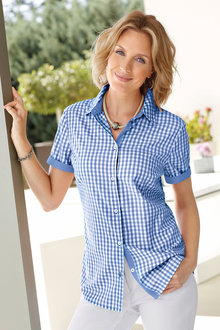 Capture European Gingham Shirt