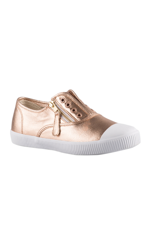 Plus Size - Sara Wide Fit Pull On Zip Sneaker