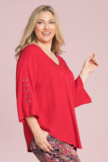 Plus Size - Sara Eyelet Detail Tunic