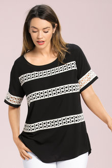 Plus Size - Sara Lace Detail Tunic