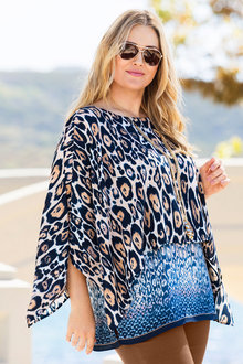 Plus Size - Sara Animal Delux Layer Tunic