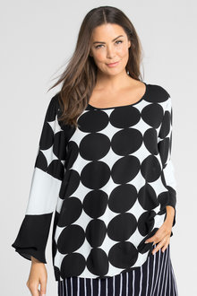 Plus Size - Sara Spot Top