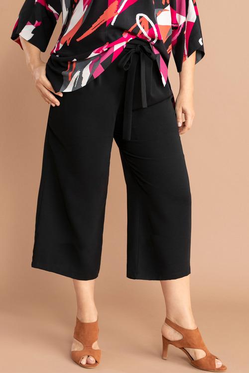 Plus Size - Sara Soft Tie Front Culotte