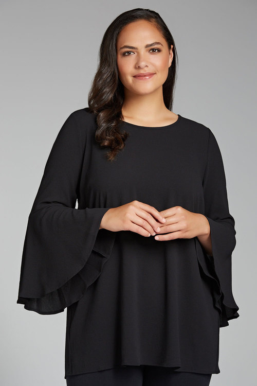 Sara Fluted Sleeve Tunic