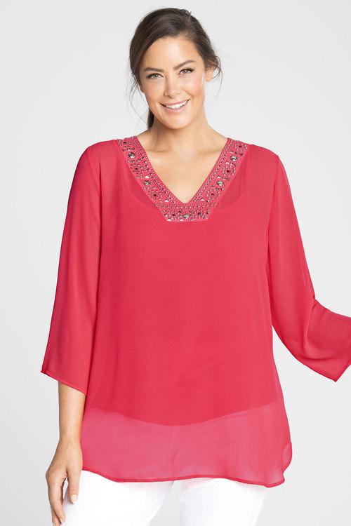 Plus Size - Sara Beaded Tunic