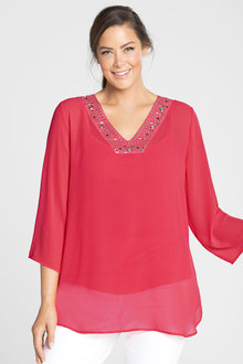 Plus Size - Sara Beaded Tunic