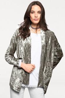 Heine Embroidered Velvet Jacket