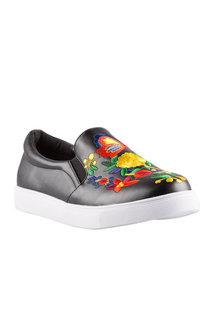 Brazil Embroidered Slip On Sneaker