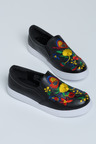 Brazil Embroidered Slip On Sneaker