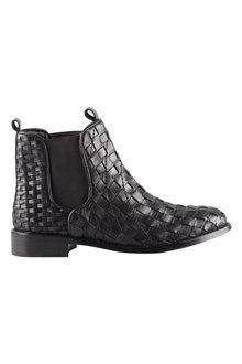 Capture Wide Fit Danville Weave Ankle Boot