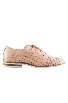 Anaheim Cut Out Lace Up Court Flat