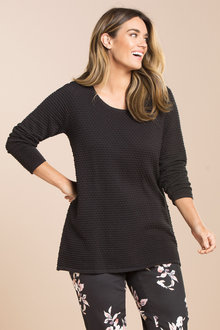 Plus Size - Sara Raised Stitch Jumper