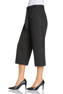 Emerge Wide Leg Twill Crop Pant