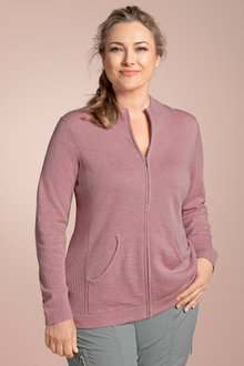 Plus Size - Sara Lambswool Zip Through Cardi