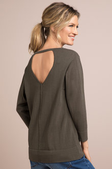 Capture Back Detail Sweater - 190050