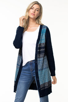 Capture Stripe Longline Cardigan