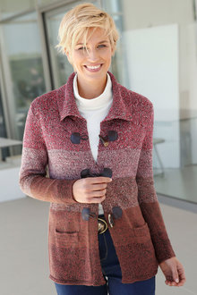 Capture European Toggle Front Cardigan