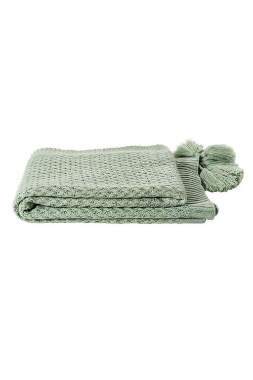Tassel Knit Throw