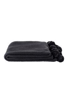 Pompom Knit Throw
