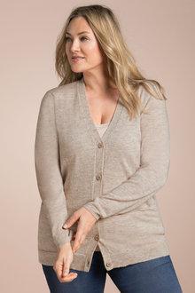 Plus Size - Sara Lambswool Pocket Cardigan